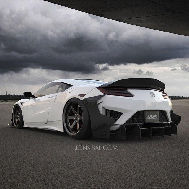 SUPER GT仕様?ホンダ「NSX」をカーボンワイドボディキットを装着したレンダリング画像が公開に