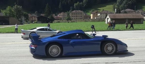 何この奇跡。伝説のポルシェ「911GT1」とメルセデスベンツ「CLK GTR ...