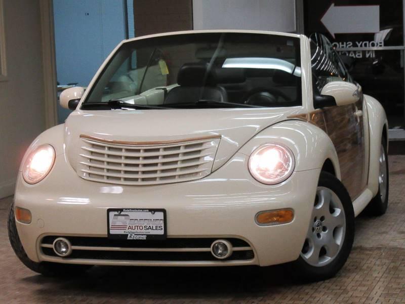 VW「ビートル」にクライスラー「PTクルーザー」の顔面移植した奇妙なカスタムモデルが販売中。価格は約84万円から