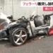 群馬県伊勢崎市にて、フェラーリが衝突し炎上→焼失する事故が発生。ドライバと助手席に乗っていた2人は意識不明の重体に
