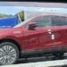 """フルモデルチェンジ版・トヨタ新型ハリアーを高速道路のPAにて目撃。ボディカラーはセンシュアルレッドマイカで、グレードはZ""""Leather Package""""か?"""