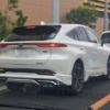 遂に来た!フルモデルチェンジ版・トヨタ新型ハリアーの実車が公道にて目撃に。しかもモデリスタのフルエアロを装着した過激仕様