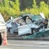 これは恐ろしい…千葉県船橋市の国道16号線にてレクサスHS250hが大破。ルーフも完全にモゲてしまい車内は血まみれに【動画有】