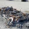 【これで値段が付くの?】完全に炎上し原型を留めていないフェラーリ458スパイダーが