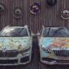 BMW新型「7シリーズ」やメルセデスベンツ「Sクラス」、レクサス「ES」をサビ風ラッピ