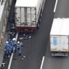 """阪和自動車道にて、トラックから5トンもの大量の""""冷凍カツオ""""が散乱。過去には12トン"""