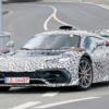 メルセデス新型AMG Oneの開発車両をスパイショット!キープコンセプトで空力を徹底し