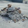 事故&炎上で焼け焦げてしまい、一切原型をとどめていない2005年式フォードGTが競売に