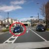 今日のプリウス。某所にて、無謀な追い越し運転に失敗したトヨタ「プリウス」が更に有