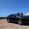 フルモデルチェンジ版・トヨタ新型ハリアーでカフェへ→たまたま駐車場に新型ハリアー