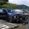 フルモデルチェンジ版・三菱の新型アウトランダーの開発車両をスパイショット!不自然