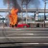 福岡県北九州市にてフェラーリ「F430」が大炎上。炎上元を見る限りやはりエンジンが原