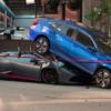 ドライバは無傷。ランボルギーニ「ウラカン・スパイダー」がアクセルとブレーキの踏み