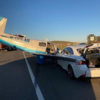 これは恐ろしい…高速道路に緊急着陸した小型飛行機にレクサスISが衝突する大事故が発