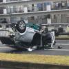 ナゼこんなことに…大阪府にてタイムズカーシェアのマツダ「デミオ(Mazda2)」がとんで