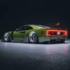 激渋グリーンのフェラーリ「F40」をシャコタン&オーバーフェンダー&リヤウィングレ