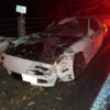 乗員が無事だったことが奇跡…宇都宮有料道路にてマツダRX-7(FC3S)が鹿と衝突。あらゆ