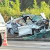 これは恐ろしい…千葉県船橋市の国道16号線にてレクサスHS250hが大破。ルーフも完全に