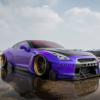 ロケバニカスタムの車高ベッタベタな日産「GT-R」が公開。ADV.1ホイール装着で猛毒注