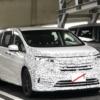 遂に来た!ビッグマイナーチェンジ版・ホンダ新型オデッセイの開発車両を初目撃。トヨ