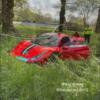 友人のフェラーリ488ピスタで急加速→スピンしてコースアウト→事故で大破。どうやらト