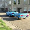 オランダにて、全く同じカラーのトレーラーをけん引するランボルギーニ「ガヤルド・ス