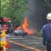 これマジか…神奈川県の箱根ターンパイクにてフェラーリF40が大炎上。原因は不明ながら