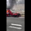京都市山科区の名神高速道路にてランボルギーニ・アヴェンタドールSVが事故・大炎上!