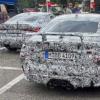 明かにヤバそうな4本出しマフラーを装備するフルモデルチェンジ版・BMW新型M4の開発車