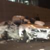 1月3日早朝に発生したトヨタ「クレスタ」は死亡事故だった。単独事故の可能性低し、事