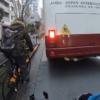 東京都にて、UberEats配達員がアオバジャパンインターナショナルスクールバスの悪質な