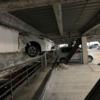今日のプリウス…立体駐車場でワイルドスピード的なミサイルスタントを披露してしまっ