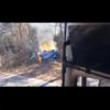 富士スバルラインにて、フェラーリ「488スパイダー」がクラッシュ。大炎上するも男性