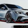 フルモデルチェンジ版・スバル新型レヴォーグを最速シャコタン&オーバーフェンダーに