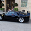 そりゃ子供も見たくなるさ。パリにて、かなり珍しいブラックカラーのフェラーリ「F40