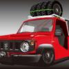日本自動車大学校(NATS)がスズキ新型「ジムニー」を超絶シャコタン&初代トラック仕様