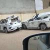 横転事故で大破したフルモデルチェンジ版・トヨタ新型ランドクルーザー300(LC300)のそ