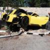 ポルシェ911GT2RSが単独事故で大破…急加速でコントロール不能に。更に台風などの影響