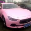 やっぱり中国はこの色!ピンクカラーのマセラティ「ギブリ」が目撃される