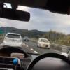 今日のプリウス…鹿児島県の自動車専用道路にて、ひたすら5km/hで徐行し続けるトヨタ「