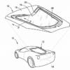 シボレー「コルベットC8」専用エンジンカバーの特許画像が公開。エンジンカバーにはマ